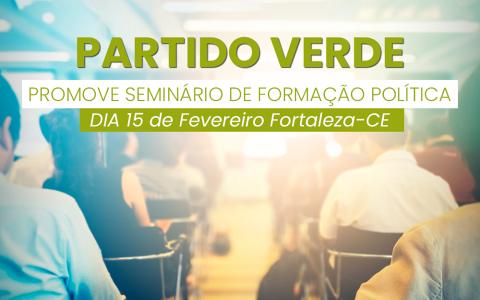 PV PROMOVE SEMINÁRIO DE FORMAÇÃO POLÍTICA NO DIA 15/02
