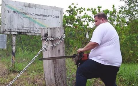 Justiça manda governo repor corrente de terra indígena cortada por deputado