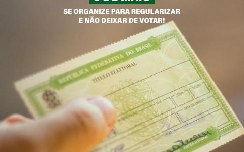 Prazo para regularizar título de eleitor termina no dia 6 de maio, mesmo com pandemia do coronavírus