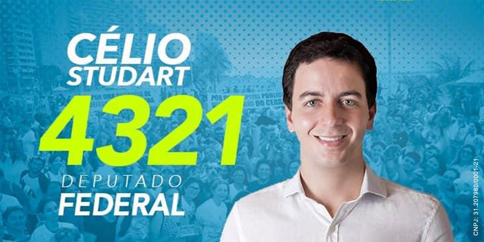 Conheça o Candidato a Deputado Federal pelo PV Célio Studart